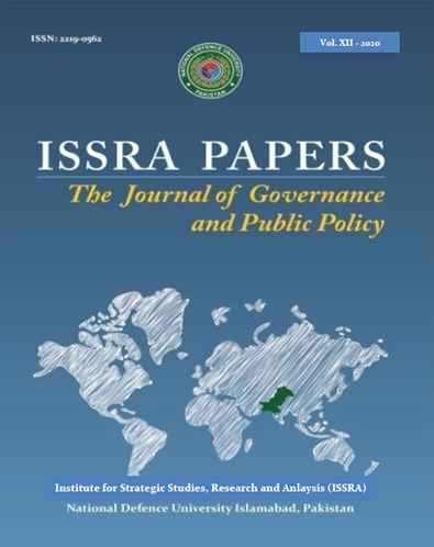 View Vol. 1 No. XII (2020): ISSRA Papers (The Journal of Governance and Public Policy)